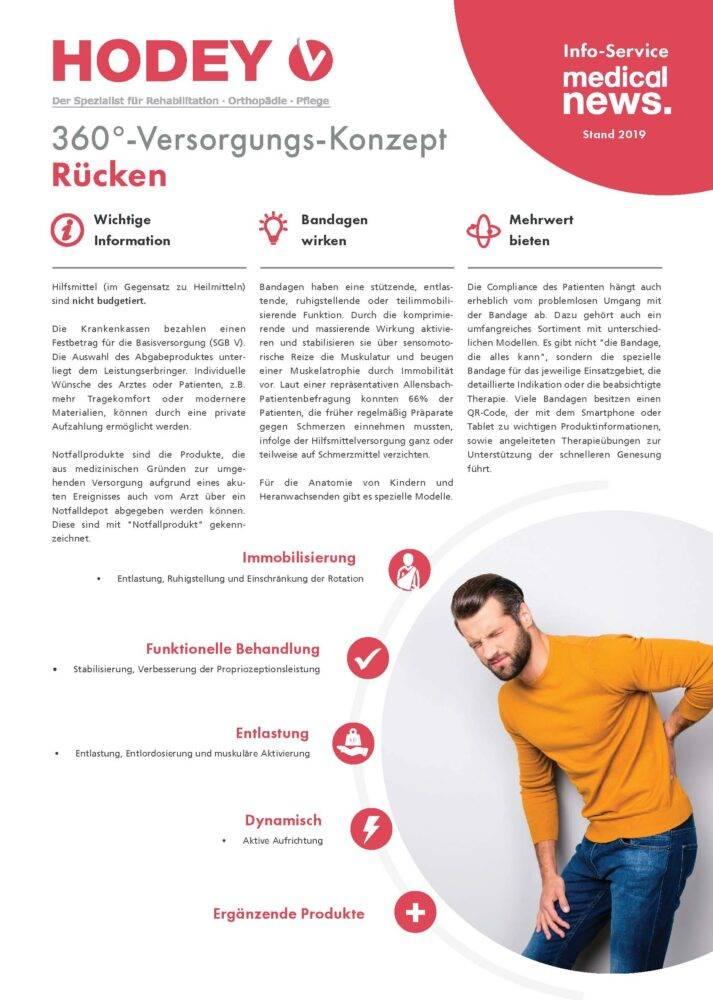 HODEY-Medical News 360°-Versorgungs-Konzept Rücken