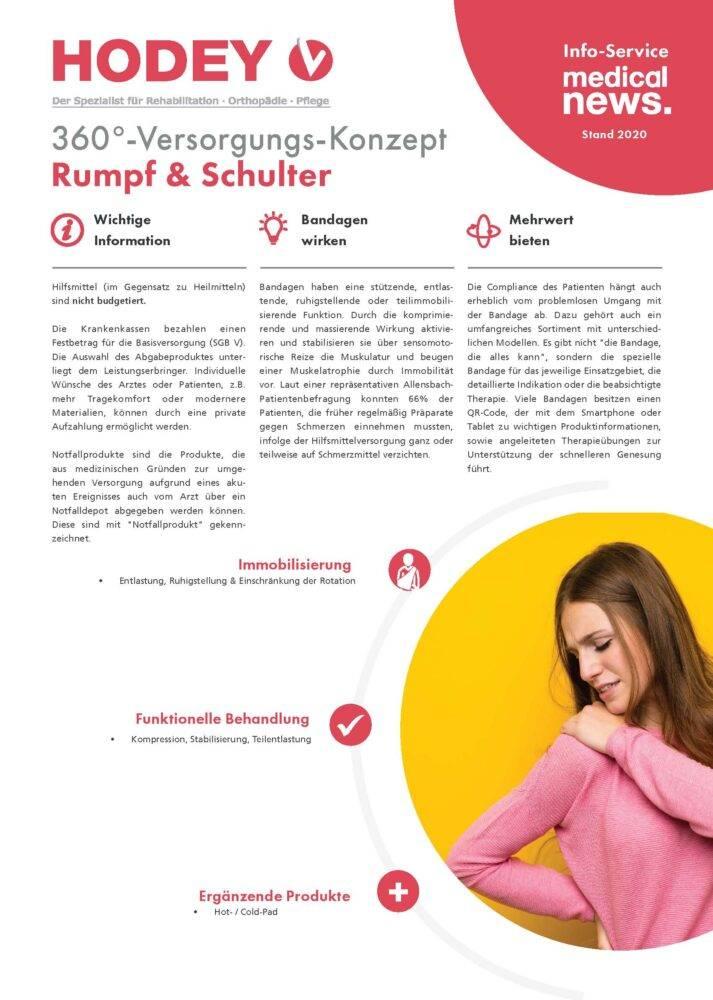 HODEY-Medical News 360°-Versorgungs-Konzept Rumpf und Schulter